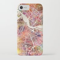 amsterdam iPhone & iPod Cases featuring Amsterdam by MapMapMaps.Watercolors