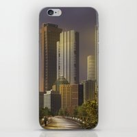 cityscape iPhone & iPod Skins featuring Cityscape by Viggart