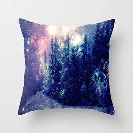 Galaxy Forest : Deep Pastels Throw Pillow