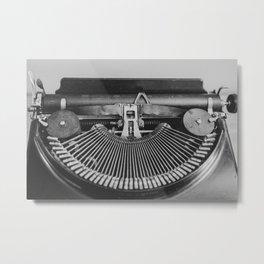 Typewriter Strikers Metal Print