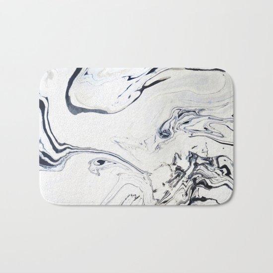 Marble Art V12 #society6 Bath Mat
