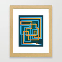 Tron Tracks Framed Art Print