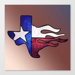 Lone star Texas flag Canvas Print