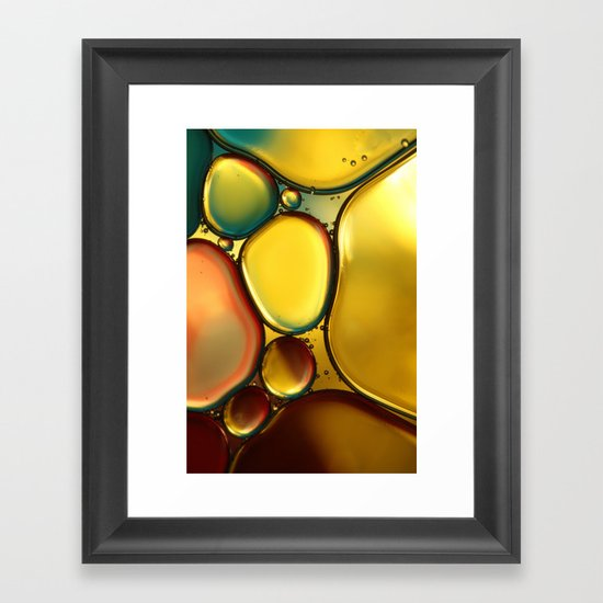 Oil & Water Abstract II Framed Art Print
