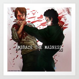 """NBC Hannibal - Will and Hannibal - """"Embrace the Madness"""" Art Print"""