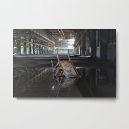 Flipped Chair Metal Print