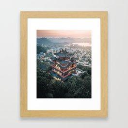 Chenghuang Pavilion Framed Art Print