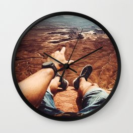 on top of canyonalnds Wall Clock