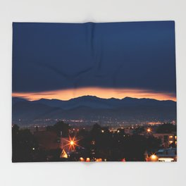 Mount Evans Sunset Throw Blanket