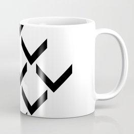 3D PFEILE EFFEKT – geometrische Wandposter schwarz weiss Coffee Mug