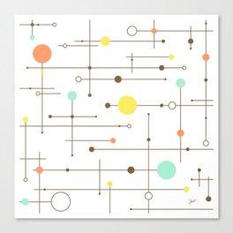 Ballastic Modern Circle Design Canvas Print