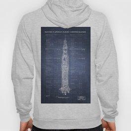 Apollo Saturn V Blueprint in High Resolution (dark blue) Hoody