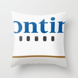 Plane Tees - Continental Airlines Throw Pillow