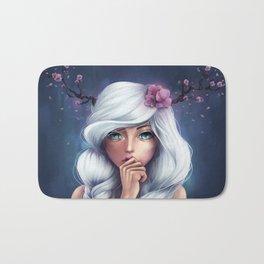 White-haired Girl Bath Mat