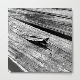 Splinted Wood Metal Print