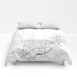BILLINGS Map Print Comforters