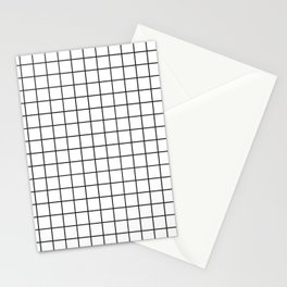 Modern Grid Stationery Cards