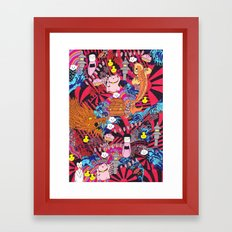 Japanese mash up Framed Art Print
