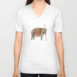 Riding Elephant Unisex V-Neck