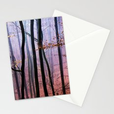 Foggy fall forest photography Stationery Cards