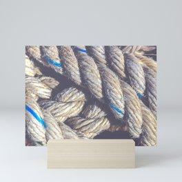 Crossing sling rope Mini Art Print