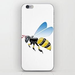 Three Dimensional 3D shiny Yellow and Black Bumble Bee iPhone Skin