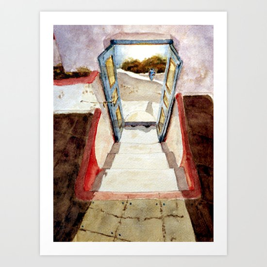Greek memories No. 1 Art Print