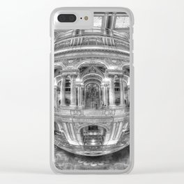 Ode To MC Escher Library of Congress Orb Horrizontal Clear iPhone Case