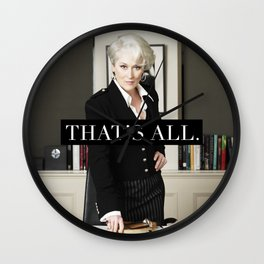 That's All. Wall Clock