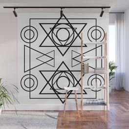 Circle and triangles geometry Wall Mural