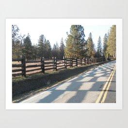 Checkerboard Road Art Print