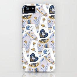 Dala Horse Pattern iPhone Case