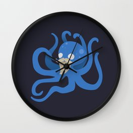 Octobeard Blue Mix Wall Clock