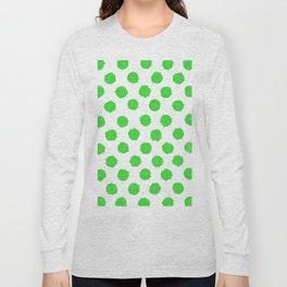 Bright Lime Green Polka Dots to Cheer You Up Long Sleeve T-shirt