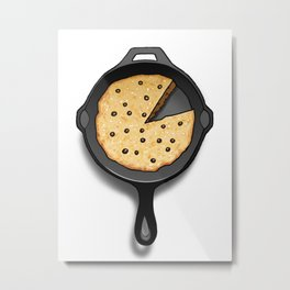 Skillet Cookie Metal Print