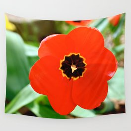 Red Portal Wall Tapestry