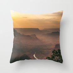 Grand Canyon - South Rim - Evening Haze Throw Pillow