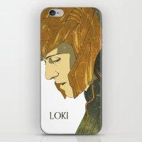 loki iPhone & iPod Skins featuring Loki  by Pulvis