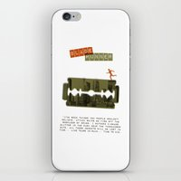 blade runner iPhone & iPod Skins featuring Blade Runner by Marta Colomer