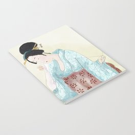 Woman Sewing Notebook