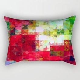 Mixed color Poinsettias 1 Abstract Circles 2 Rectangular Pillow