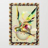 parrot Canvas Prints featuring PARROT by Mathis Rekowski
