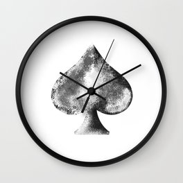 Weathered Spade Wall Clock