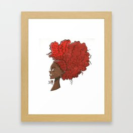Big Red Hair Framed Art Print