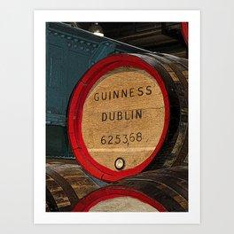 Guinness beer barrel - great man cave art! Art Print