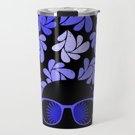 Afro Diva : Indigo Blue Periwinkle Travel Mug