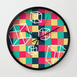 Cubes and Color II Wall Clock