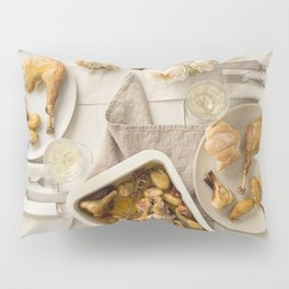 Vintage festive table for two Pillow Sham
