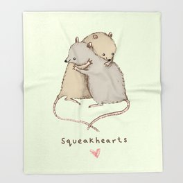 Squeakhearts Throw Blanket