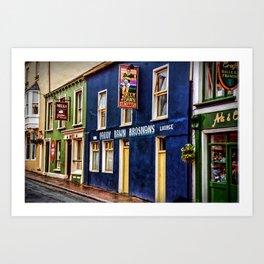 Paddy Bawn Brosnans Bar in Dingle Art Print